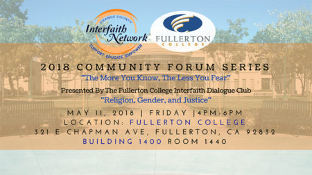 Community Forum – Religion, Gender, and Justice